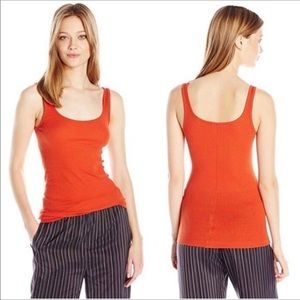 Vince, looks NEW, bright orange finely ribbed tank
